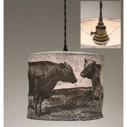 Cows Canvas Pendant Lamp