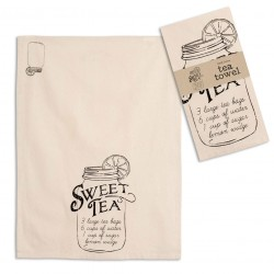 Sweet Tea Recipe Tea Towel - Box of 4