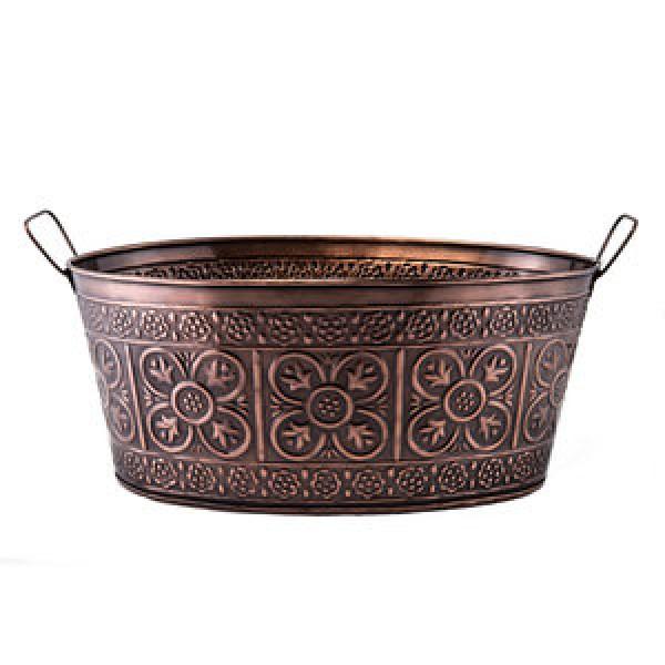 3½ Gallon Antique Copper Party Tub