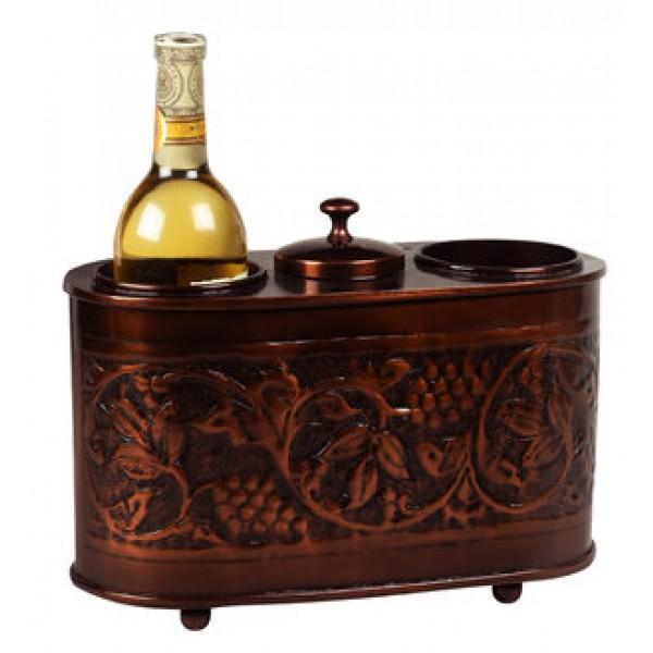 "Antique Embossed ""Heritage"" 2 Bottle Wine Chiller"