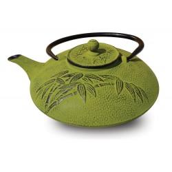 """Cast Iron """"Positivity"""" Teapot, 26 Oz. (Moss Green or Dusk Blue)"""